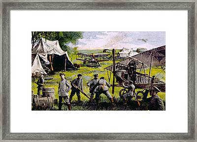 World War I, German Field Air Detail Framed Print by Everett