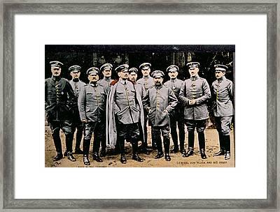 World War I, German General Alexander Framed Print