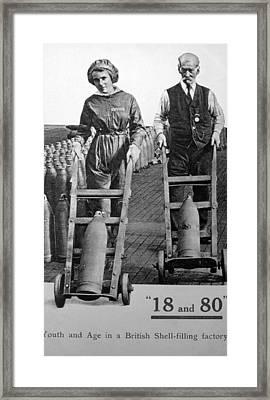 World War I, Munitions Factory Workers Framed Print by Everett
