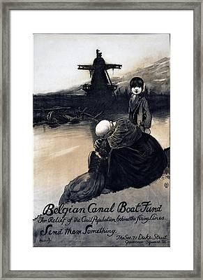 World War I, Poster Showing A Mother Framed Print by Everett