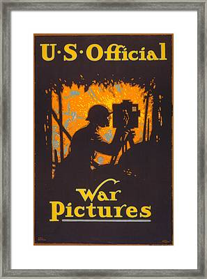 World War I, Poster Showing A War Framed Print by Everett