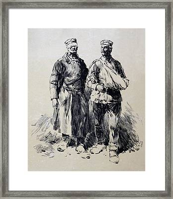 World War I, Poster Shows Wounded Framed Print by Everett