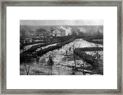 World War I, Russian Prisoners Captured Framed Print