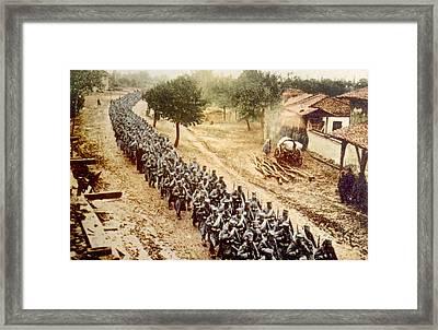 World War I, Serbian Troops Advancing Framed Print by Everett