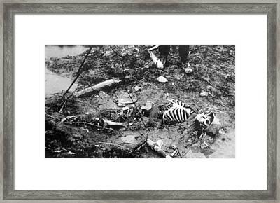 World War I, Skeleton Of A Dead German Framed Print by Everett