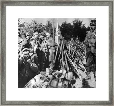 World War I, The Collected Weaponry Framed Print