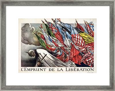 World War I, The Liberation Loan Framed Print by Everett
