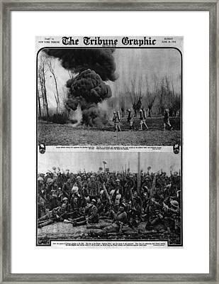 World War I, The Tribune Graphic, Top Framed Print by Everett