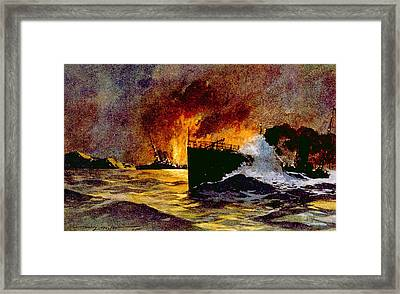 World War I, Torpedoing Of The British Framed Print by Everett