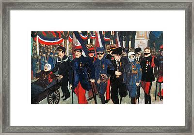 World War I: Veterans Framed Print by Granger