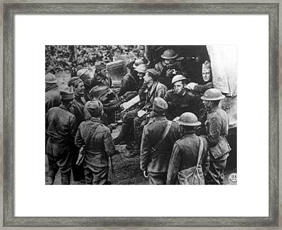 World War I, Wounded American Soldiers Framed Print