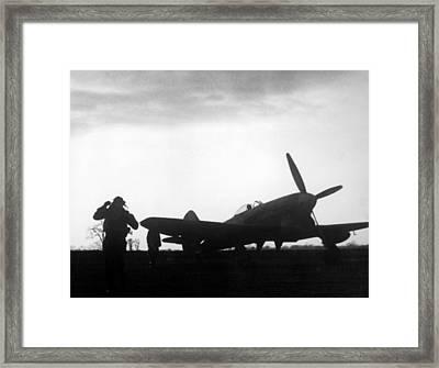 World War II, A British Fighter Pilot Framed Print by Everett