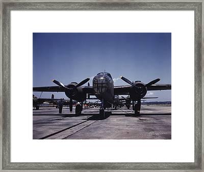 World War II, B-25 Bomber Planes Framed Print by Everett