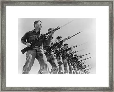 World War II, Bayonet Practice Framed Print by Everett