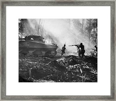 World War II: Bougainville Framed Print by Granger