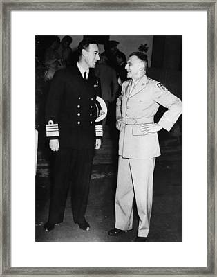 World War II. British Admiral Lord Framed Print
