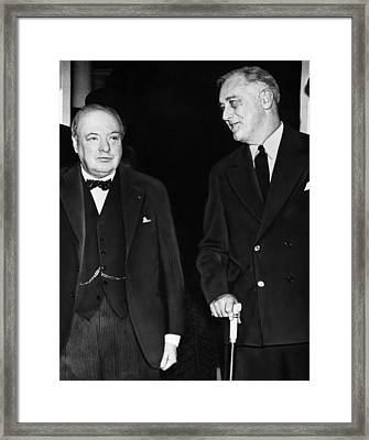 World War II. British Prime Minister Framed Print