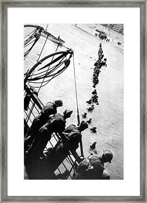 World War II, British Soldiers Framed Print by Everett