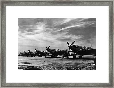 World War II, British Spitfire Planes Framed Print