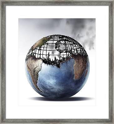 World War II, Conceptual Image Framed Print