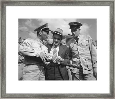 World War II, French L. Vineyard Left Framed Print by Everett
