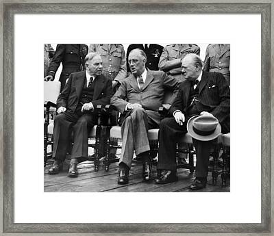 World War II. From Left Canadian Prime Framed Print by Everett