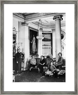 World War II. From Left King George Vi Framed Print