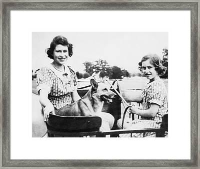 World War II. Future Queen Of England Framed Print