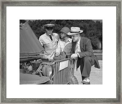World War II, George Woolslayer Right Framed Print by Everett