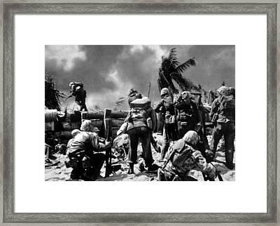 World War II, Official U.s. Navy Photo Framed Print by Everett