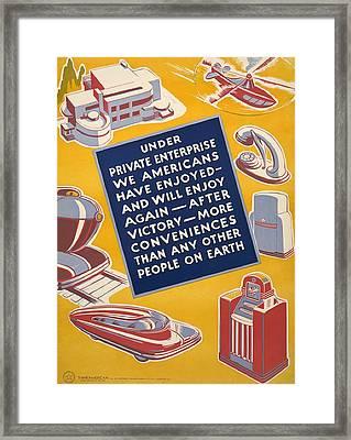 World War II Poster Reassuring Framed Print