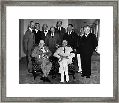 World War II. Seated, From Left British Framed Print by Everett