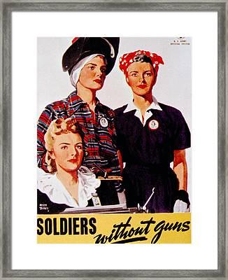 World War II, Soldiers Without Guns Framed Print by Everett