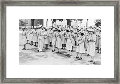 World War II. Womens Army Auxiliary Framed Print