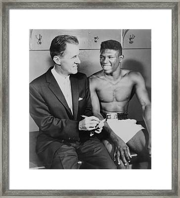 World Welterweight Champion Emile Framed Print