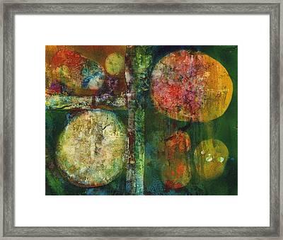 Worlds Apart Framed Print