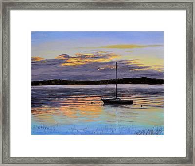 Worlds End Boat Framed Print