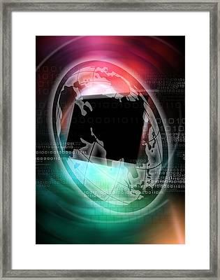 Worldwide Web, Conceptual Artwork Framed Print