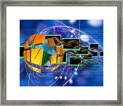 Worm Computer Virus Framed Print by Victor Habbick Visions