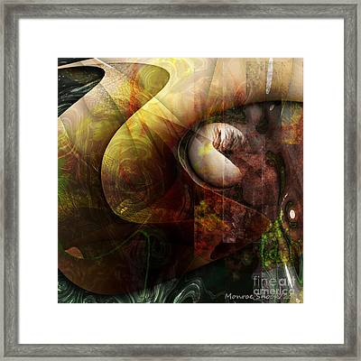 Worm Hole Framed Print by Monroe Snook