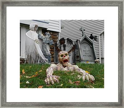 Worms Eye View Of Terror Framed Print by Richard Bryce and Family