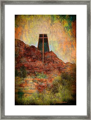 Worship In Sedona Framed Print by Dale Stillman