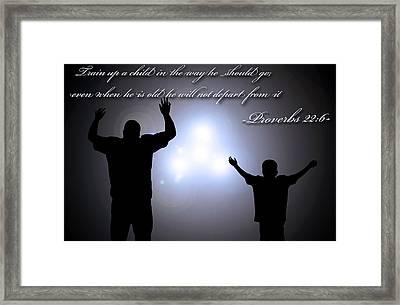 Worship Together Framed Print by Carl Muller