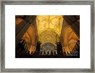Worship Up Above  Framed Print by Perry Van Munster