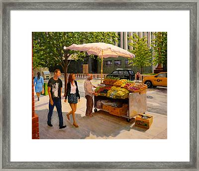 Worth Street Nyc Framed Print