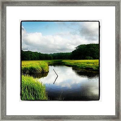 Wotton Creek #wotton #creek #sun #water Framed Print