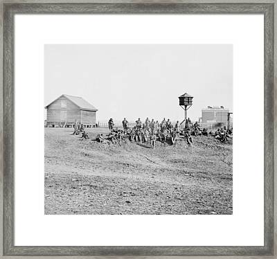 Wounded African-american Soldiers Framed Print by Everett