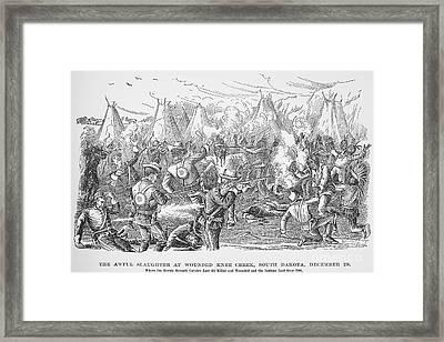 Wounded Knee, 1890 Framed Print by Granger