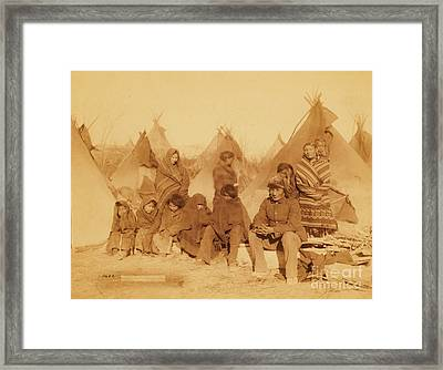 Wounded Knee Survivors Framed Print by Pg Reproductions