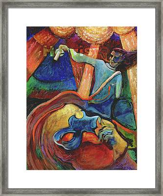 Wounded Prophet Framed Print by William Sosa